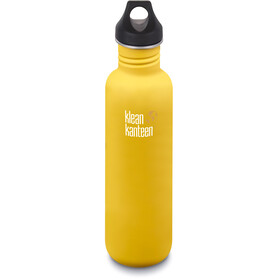 Klean Kanteen Classic Bottle Loop Cap 800ml Lemon Curry Matt